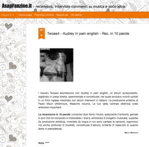 twoas4 audrey recensione asapfanzine maresca