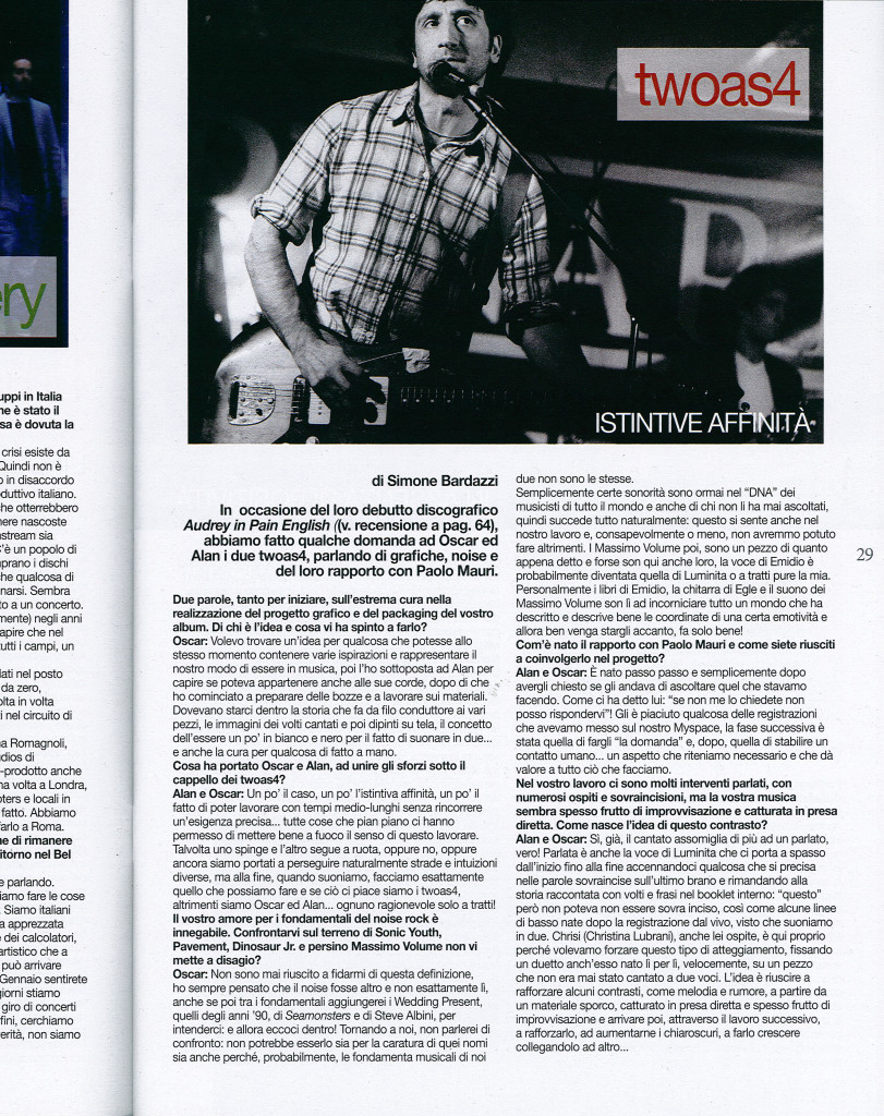 intervista Rockerilla n.387 nov.2012