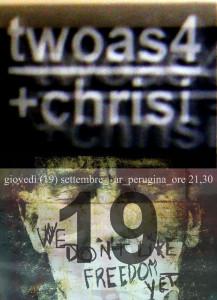 twoas4+chrisi locandina concerto 19092013